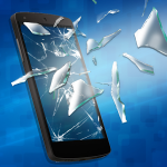 خدعة تكسير الشاشة للهاتف