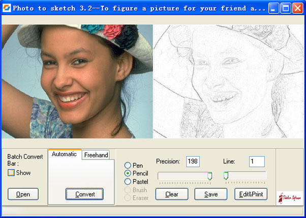 تحميل برنامج تحويل الصورة لرسم سكتش مجانا Download Photo To Sketch
