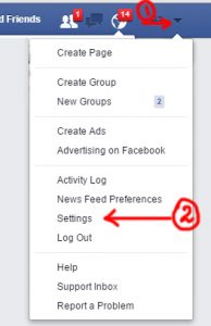 change facebook arabic