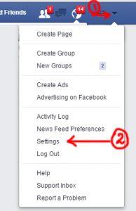 change facebook arabic