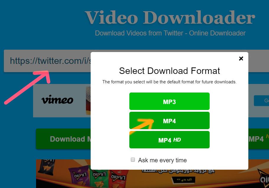 كيفية تحميل الفيديو من تويتر خطوات تنزيل فيديو من تويتر