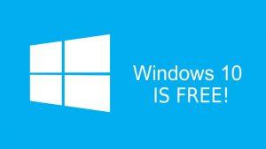 الحصول على نسخة مجانية ويندوز 10